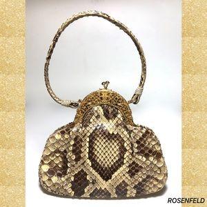 ROSENTHAL Bags - Rosenfeld Python Snakeskin Repoussé Evening Bag